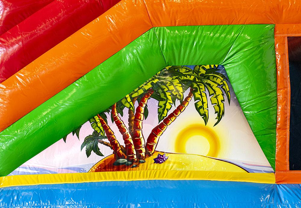 hawaii feest springkasteel verhuur